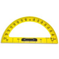 SAFETOOL Rapporteur en plastique incassable jaune gradué 50cm avec poignée noire amovible pour tableau