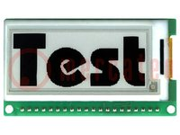 "Kijelző: e-papír; 2""; 172x72; 62x35mm; Kijelző: grafikus; 3÷3,3VDC"