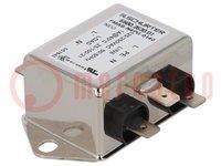 Filter: onderdrukkend; 250VAC; Inom max:1A; -40÷100°C; Ir:0,5mA