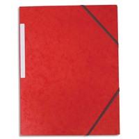 5 ETOILES Chemise simple � �lastique en carte lustr�e 5/10eme 390g. Coloris rouge. Dimensions 24x32cm