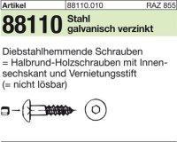 Diebstahlhemmende Schrauben 10x130