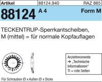 TECKENTRUP-Sperrkants. M8x18,2x1,4
