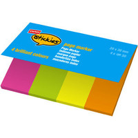 Haftmarker stickies™ page marker, 20x38mm, 4farb. sort., 4x50 Bl.