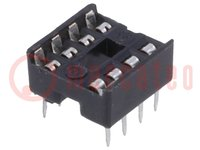 Socket: DIP; PIN:8; 7.62mm; THT; Pitch:2.54mm