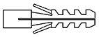 JD-Flossendübel Mat. Polyamid (Nylon) WST Polyamid / PA ( Nylon ) Größ... 6mm HP