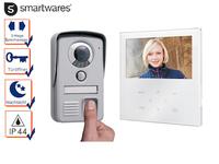 Video Türsprechanlage mit Fingerabdruckscanner und Touchscreen, Nachtsichtkamera