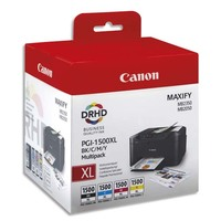 CANON Multipack 4 couleurs Jet d'encre PGI1500XL 9182B004
