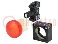 Lámpara de control; 22mm; Displ: LED 24VCA/CC; Color: rojo