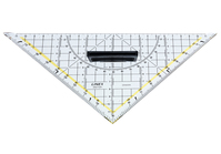 Linex, Geodreieck, transparent, mit abnehmbarem Griff, 22,5 cm