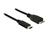 Kabel SuperSpeed USB 10 Gbps (USB 3.1, Gen 2) USB Type-C™ Stecker an USB Typ Micro-B Stecker 1 m schwarz, Delock® [83677]