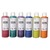 ART PLUS Lot de 6 flacons 250ml gouache. Assortis pailleté : Bordeaux, Vert, Violet, Bleu, Jaune, Orange