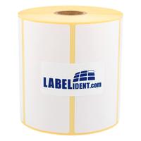 """2000 Etiketten Papier 90 x 33mm weiß permanent 1/"""" Kern 1-bahnig"""