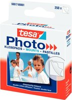 tesa Photo Klebepads, weiß, permanent klebend, mit Abzeihlasche