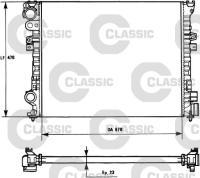 Kühler, Motorkühlung (Breite 470mm, Höhe 670mm, Dicke/Stärke 23mm, Material Aluminium ) für CITROËN, FIAT, LANCIA, , ...