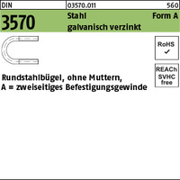 DIN 3570 Stahl A 94 / NW 80 M 12 galv. verzinkt gal Zn VE=S (50 Stück)