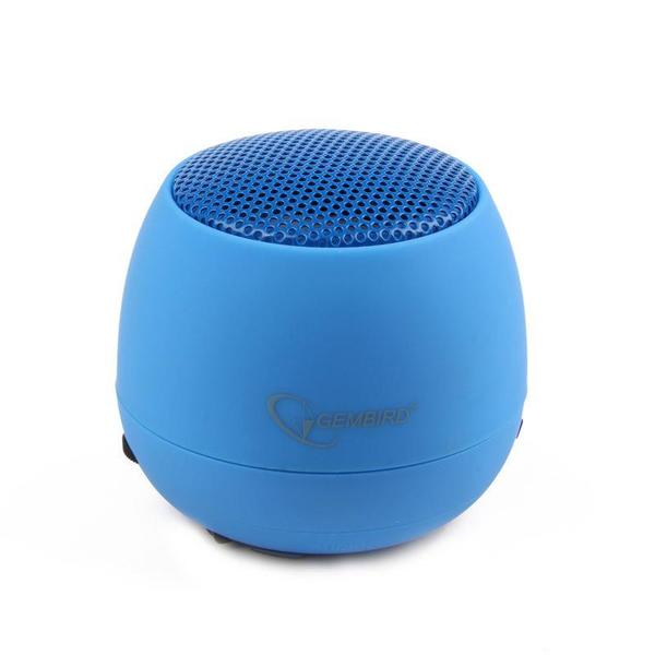Portable speaker Gembird SPK-103-B, Audio 3.5mm, 2W, 40mm, 400mAh, 6h - SPK-103-B
