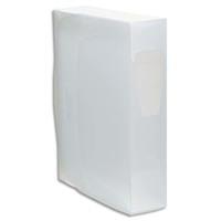 VIQUEL Boîte de classement en PP PROPYSOFT incolore,dos 8cm,étiquette sur le dos,fermeture par pression