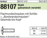 Flachrundschr.,Schlitz M6x25