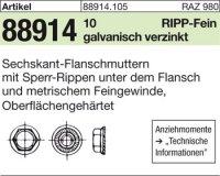 6kt.-Flanschmuttern M14x1,5