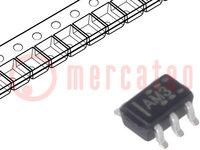 IC: digitális; 3-állású, bus puffer; Csatorna:1; Bemenetek:1; SMD