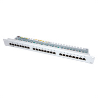 "VALUE Kat. 5e 19""-Patchpanel, 24P, geschirmt, lichtgrau"