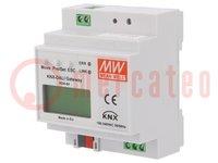 Convertitore KNX-DALI; IP20; 110÷240VAC; 155÷339VDC; 86x70x55mm