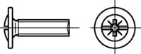 Möbelgriffschrauben mit Kombi-Kreuzschlitz-Z zn M4x33mm HP
