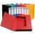 EXACOMPTA Chemise 3 rabats et élastique Exatobox dos de 4 cm, en carte lustrée 5/10e assortis