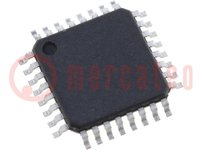 Microcontrolador AVR; EEPROM:512B; SRAM:1kB; Flash:8kB; TQFP32