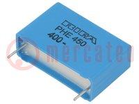 Condensateur: polypropylène; 470nF; 27,5mm; ±5%; 31,5x10,5x20,5mm