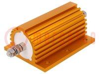 Resistore: a filo; con radiatore; 115Ω; 250W; ±1%; 114x77x54,5mm