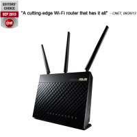 Asus WLAN Router RT-AC68U AC1900 2.4GHz/5GHz; 1.900 Mb/s Bild 1