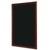 BI-OFFICE Ardoise murale cadre coloris merisier format L45 x H60 cm. Livrée avec fixations murales