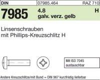 Linsenschrauben M6x25-H