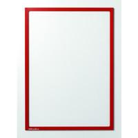 Sichttasche, magnetisch, A4, farblos/roter Rahmen