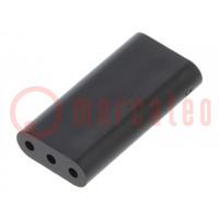 Distanční podložka; LED; ØLED: 3mm; Dl: 15,9mm; černá; UL94V-0