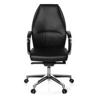 Bürostuhl / Chefsessel FREMONDO 10 Leder schwarz hjh OFFICE