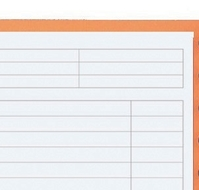 Oxford International Notepad Narrow Ruled Perforated 160pp A4+ Orange/Grey Ref 100102359 [Pack 5]