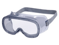Gafas de proteccion deltaplus panoramicas montura flexible de pvc ventilacion directa talla ajustable color gris