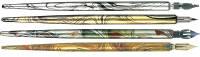Federhalter Holz Metallic, farbig sortiert