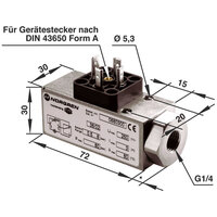 Norgren 0880400 18D Pneumatic Pressure Switch G1/4 Port 1 to 16 Bar