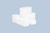 Frascos con tapa encajable, rectangulares