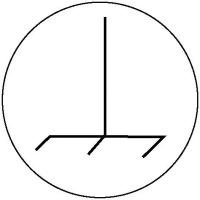 Kennzeichnung an Betriebsmitteln Bogen Masse-Anschluß, Folienetik,gest, 2cm