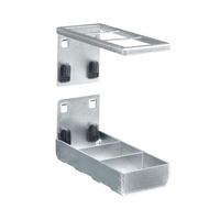 Produktbild - perfo Kombihalter unteres Teil mit perfo Doppelaufnahme BxTxH: 60x153x70mm
