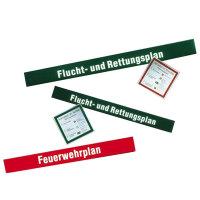 Kopfzeile für Flucht- und Rettungspläne, selbstklebende Folie, 110x12 cm