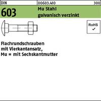 DIN 603 Mu St. M 10 x 140 galv. verzinkt gal Zn VE=S (50 Stück)