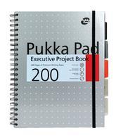 Pukka Pad Project Book Wirebound 200pp 80gsm A4 Metallic Ref 6970-MET [Pack 3]