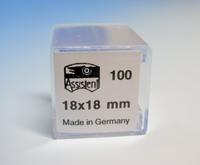 Deckgläser, 18 X 18 mm a 100 Stück