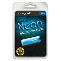 Clé USB 2.0 NEON 16GB BLEUE INFD16GBNEONB+redevance