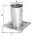 Aufschraubhülse für Rundholzpfosten, feuerverzinkt, Topf ⌀ 81 mm